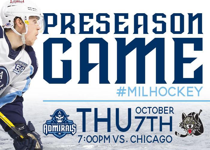 PRE-SEASON: Milwaukee Admirals vs. Chicago Wolves